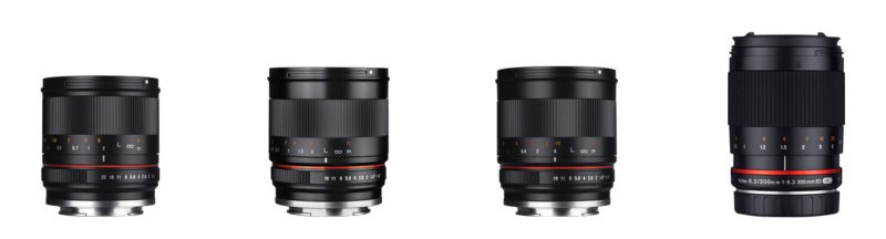 Samyang prime lenses for video