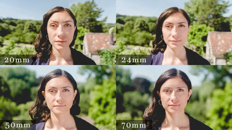 How lens choice affects face shape